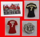 MANCHESTER UNITED FC PIN BADGES(SET OF 4)