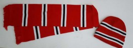 MANCHESTER UNITED BAR SCARF AND HAT