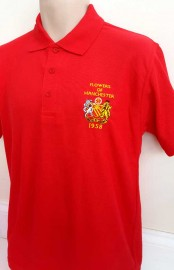 MAN UNITED FLOWERS OF MANCHESTER POLO SHIRT(RED)