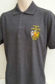 MAN UNITED FLOWERS OF MANCHESTER POLO SHIRT(GREY)