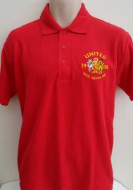 MAN UNITED WE'LL NEVER DIE POLO SHIRT(RED)